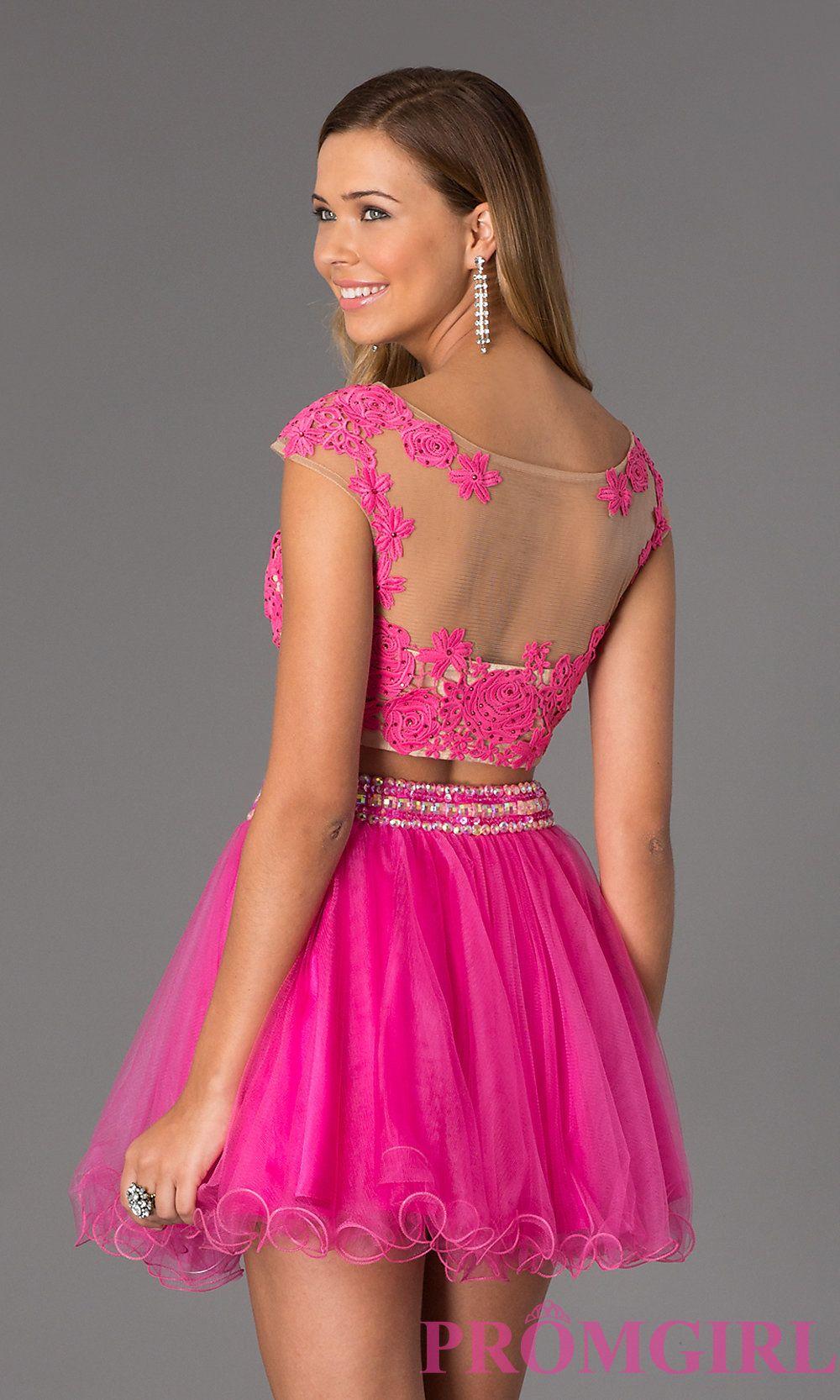 Two piece dress short two piece lace prom dress moda pinterest
