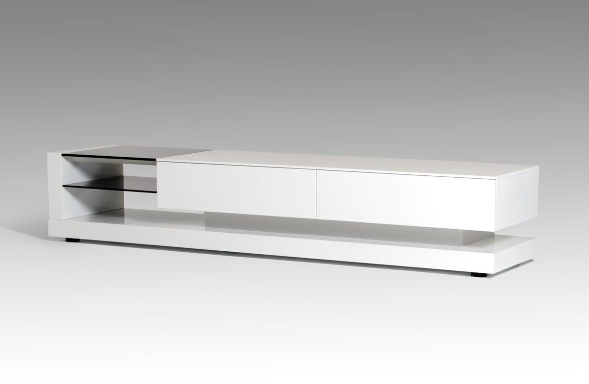 Modrest Mali Modern White Tv Stand New Arrivals Specials For  # Decoration Tv Plasma Et Table