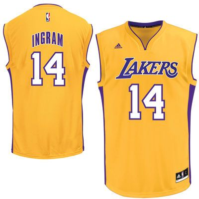 size 40 0d82b 01cf0 Men's Los Angeles Lakers Brandon Ingram adidas Gold 2016 ...