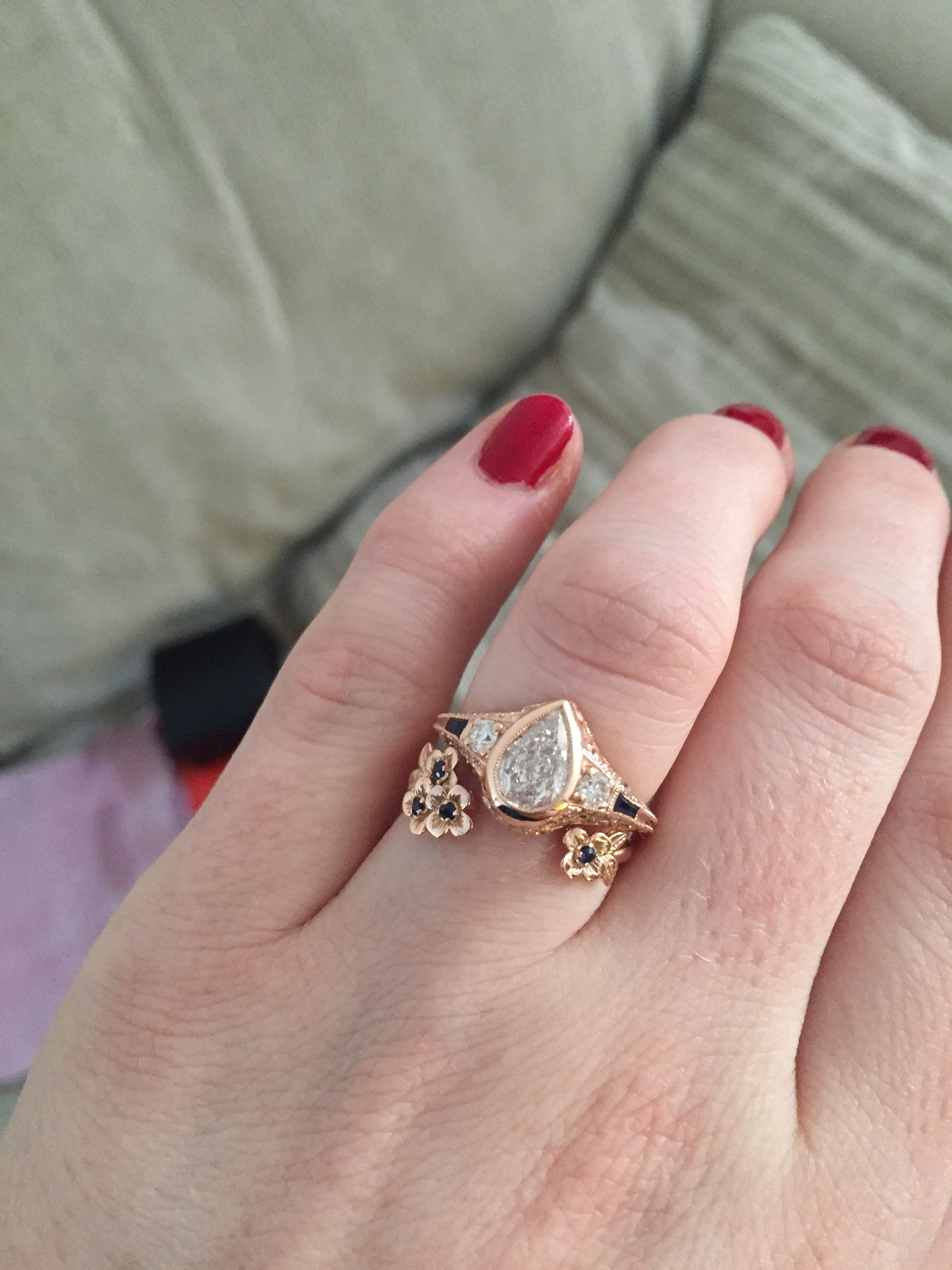 Please show me your pear e-rings! - Weddingbee | Pear Diamond Rings ...