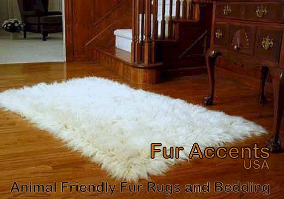4 X5 Soft Shaggy Bright White Or Off White Faux By Furaccents 89 00 Pelt Rugs Furry Rugs Rugs On Carpet