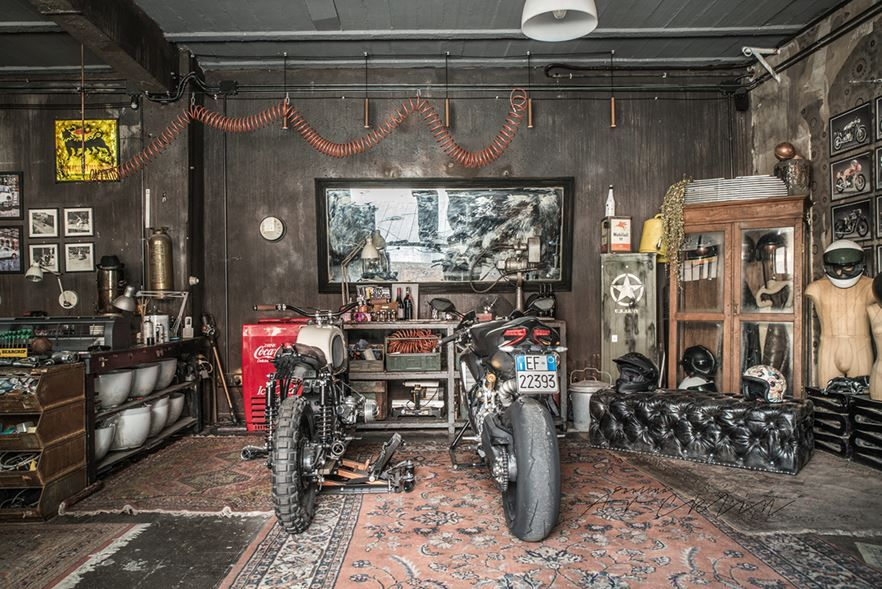 Motorcycle Man Cave Garage : Woodstock mancave garage built show u altmotocult