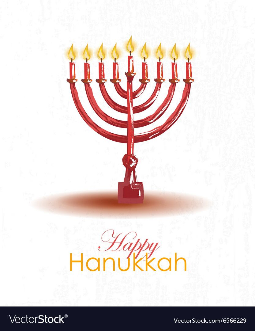 Hand Drawn Hanukkah Card Template Happy Hanukkah Poster With Candlesand Typography Lettering Template For Postcard Invitation Car Happy Hanukkah Hanukkah Cards