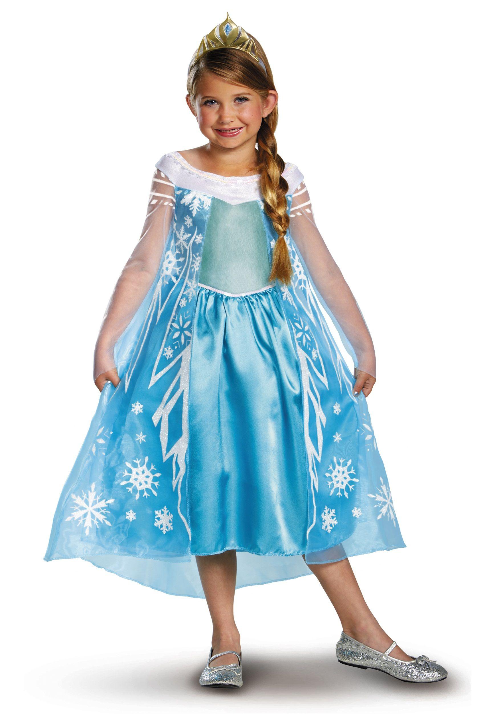 The dress from frozen - Elsa Deluxe Frozen Costume