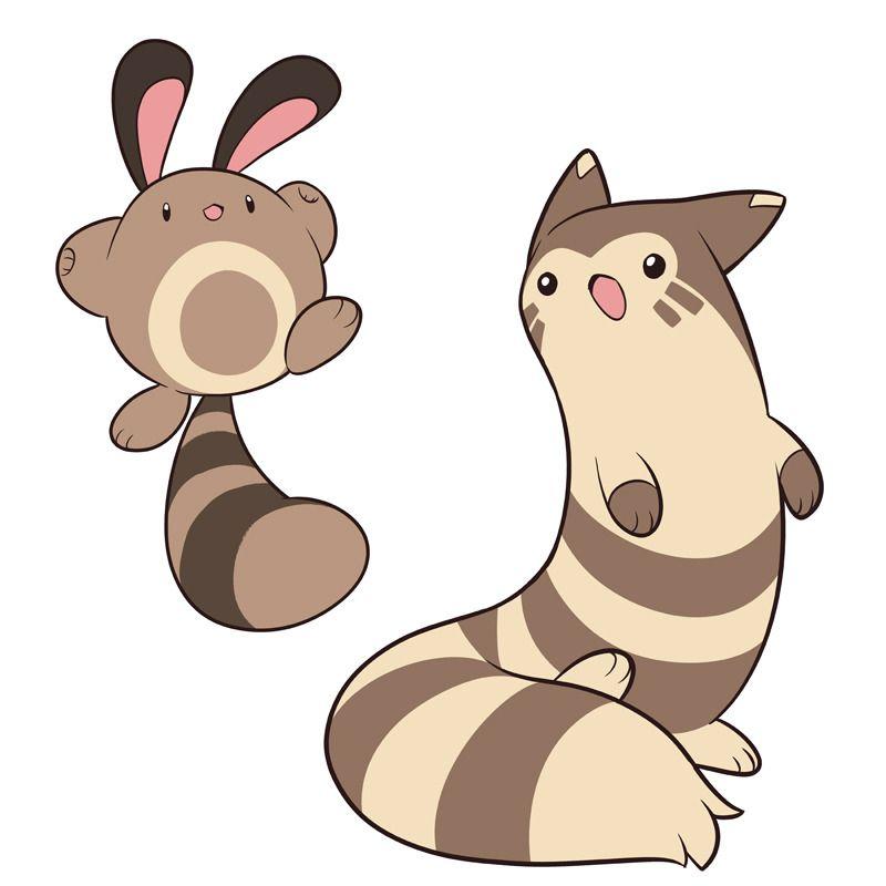 Sentret And Furret Pokemon Pokemon Fan Art Pokemon Fan