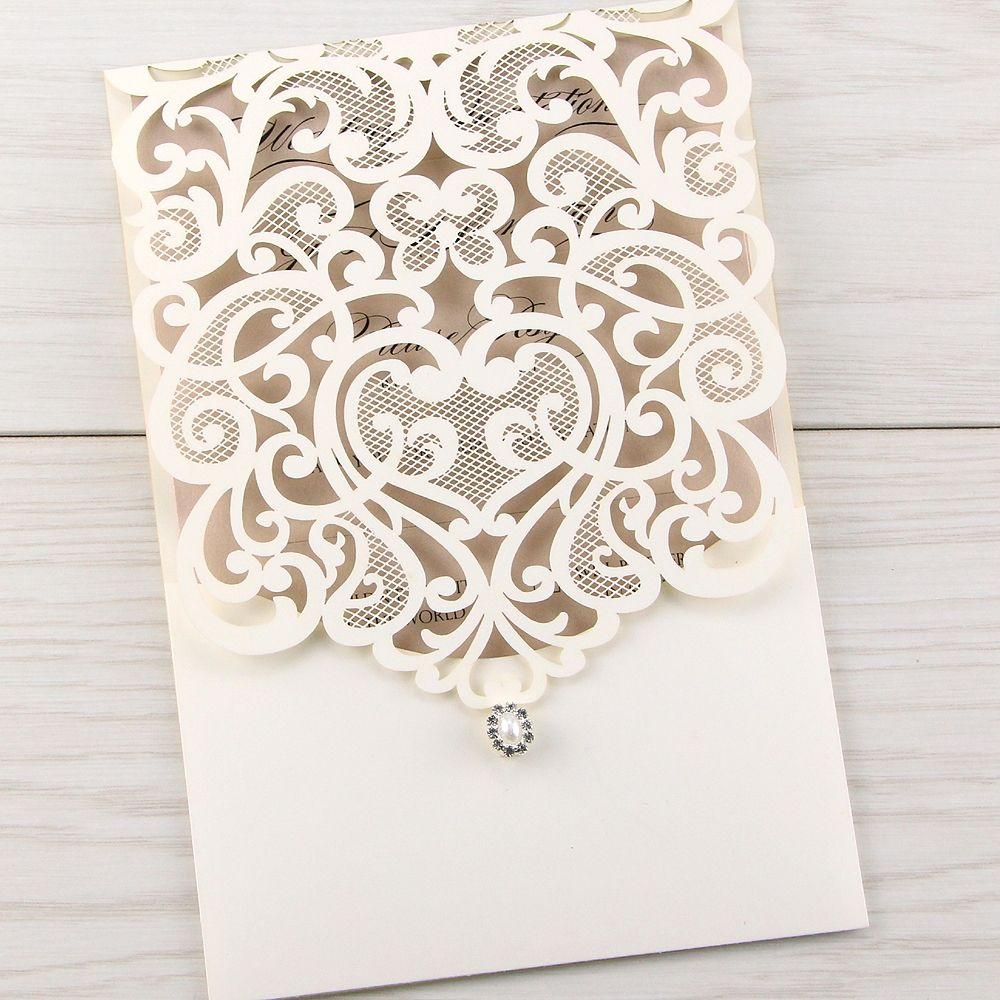 Create Laser Cut Wedding Invitations Printable Invitstiond By Own