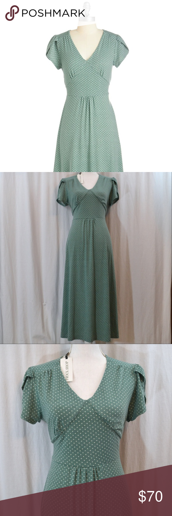 Modcloth word to the blithe sage long dress nwt xl nwt my posh