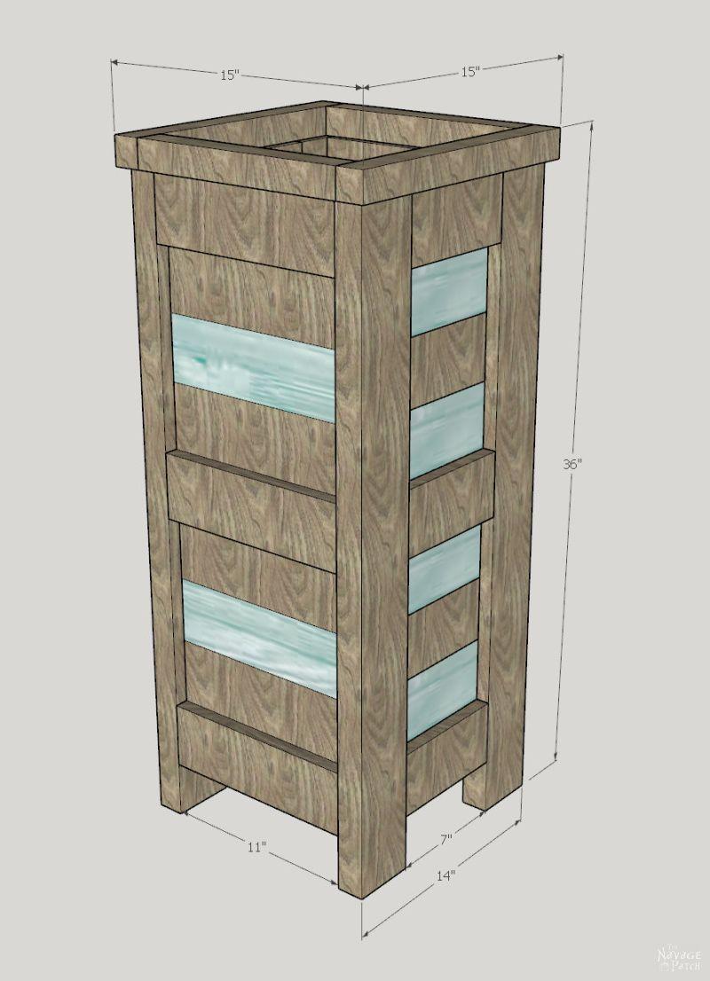 DIY Cedar Planter with free plans