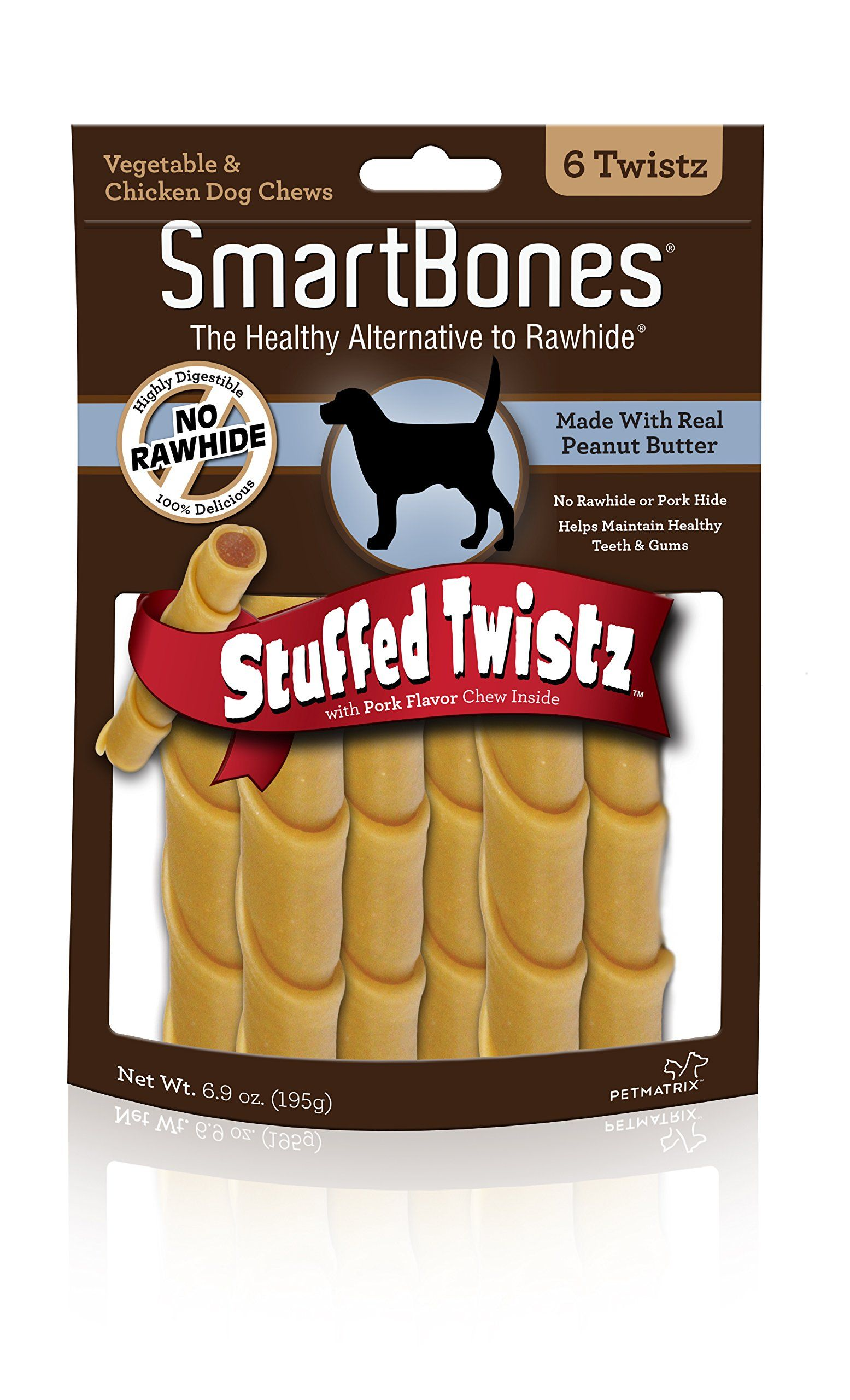 Smartbones Stuffed Twistz With Peanut Butter 6 Count You Can