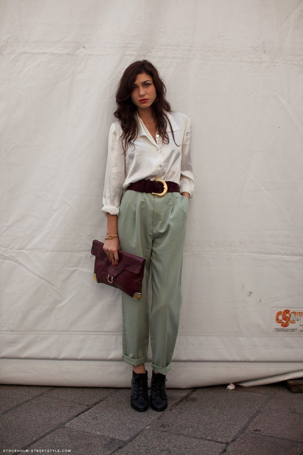 7fb4d78b7ae 22 Women Outfits With Mint Pants To Repeat - Styleoholic. The Camelia   novembre 2011 More