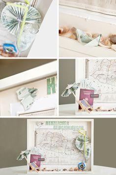 geldgeschenke originell verpacken 6 kreative ideen hochzeit pinterest geschenke. Black Bedroom Furniture Sets. Home Design Ideas