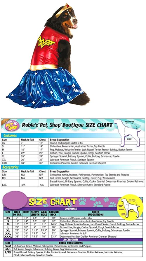 Costumes 52352 Dog Costume Wonder Woman Halloween Party Rubies Big