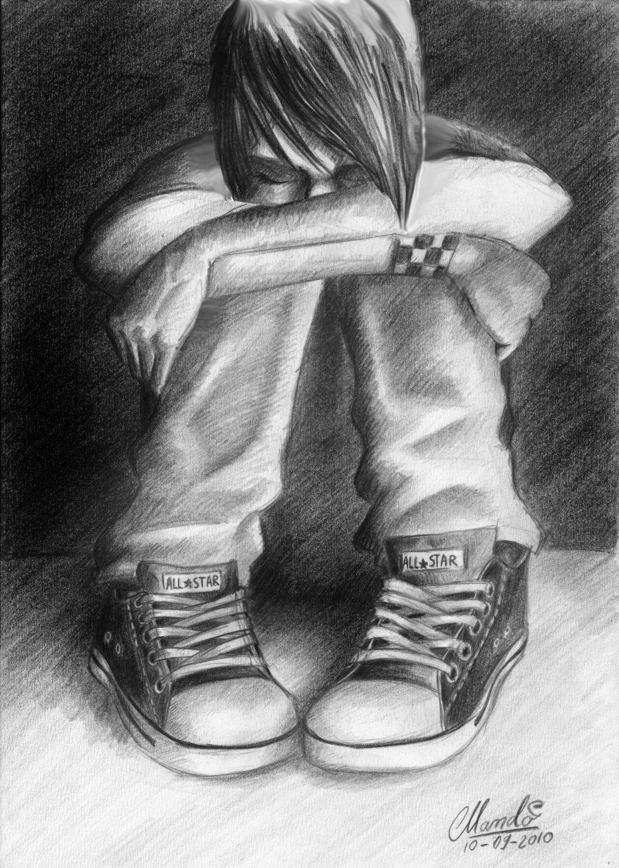 Sad emo drawings sad emo by pedroemo traditional art drawings people 2011 2014 pedroemo