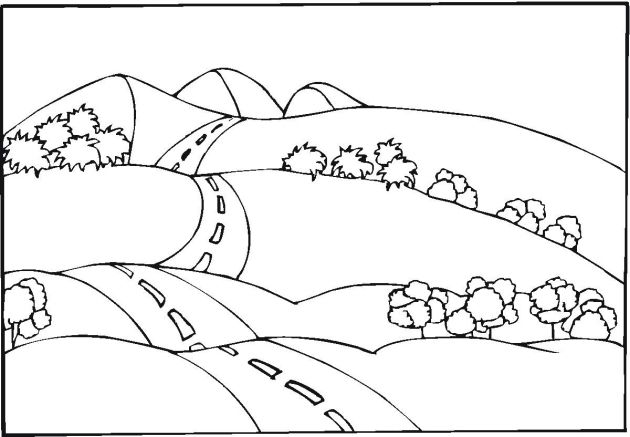 Free Landscape Coloring Pages Coloring Pictures Coloring Pages Free Coloring Pages