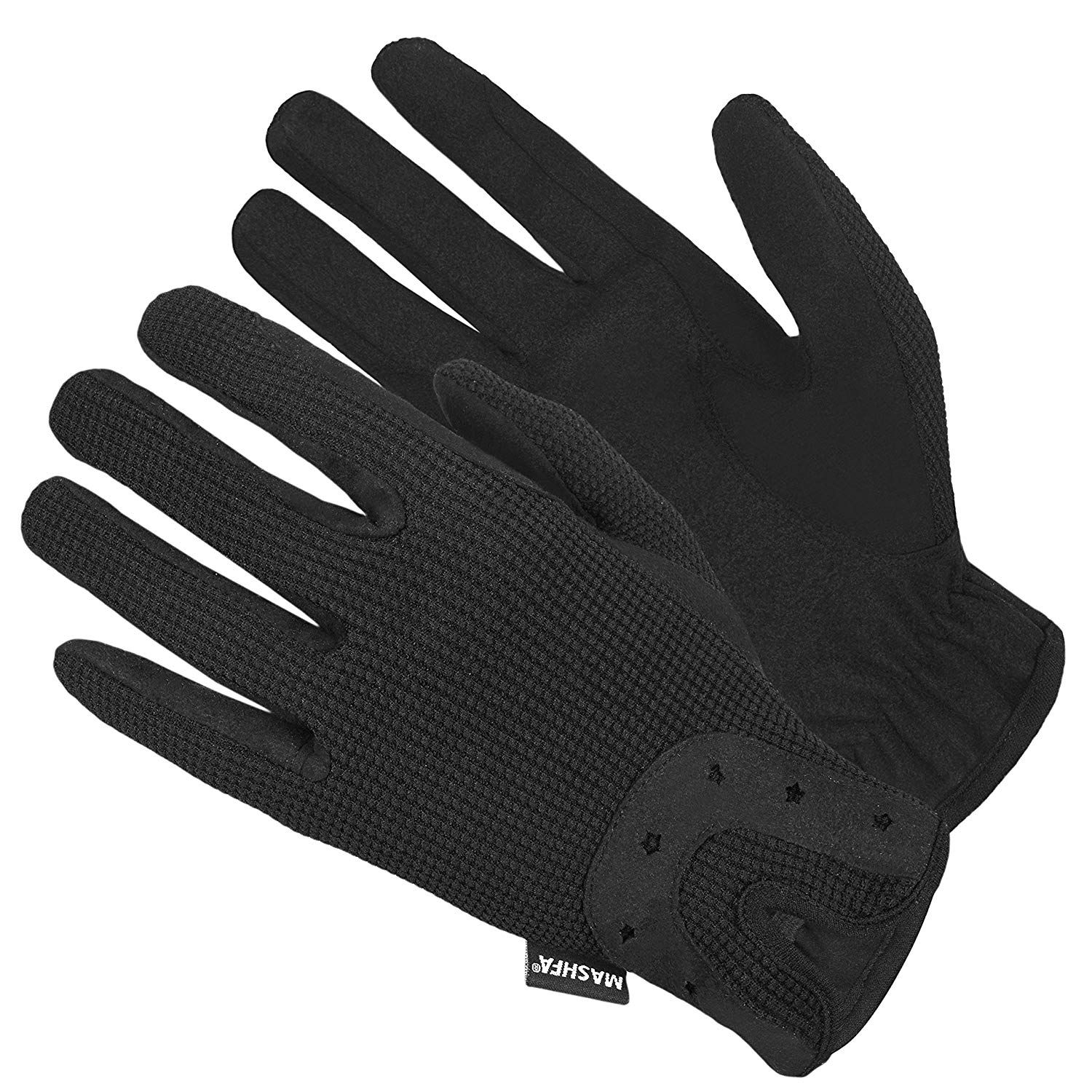 Light Weight Ladies Horse Riding Gloves Comfortable Daily Use Horse Riding Gloves Stretchable Fabric Bac Riding Gloves Horse Riding Gloves Horse Riding Clothes