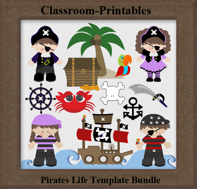 pirates life template bundle peter pan jr pinterest digital