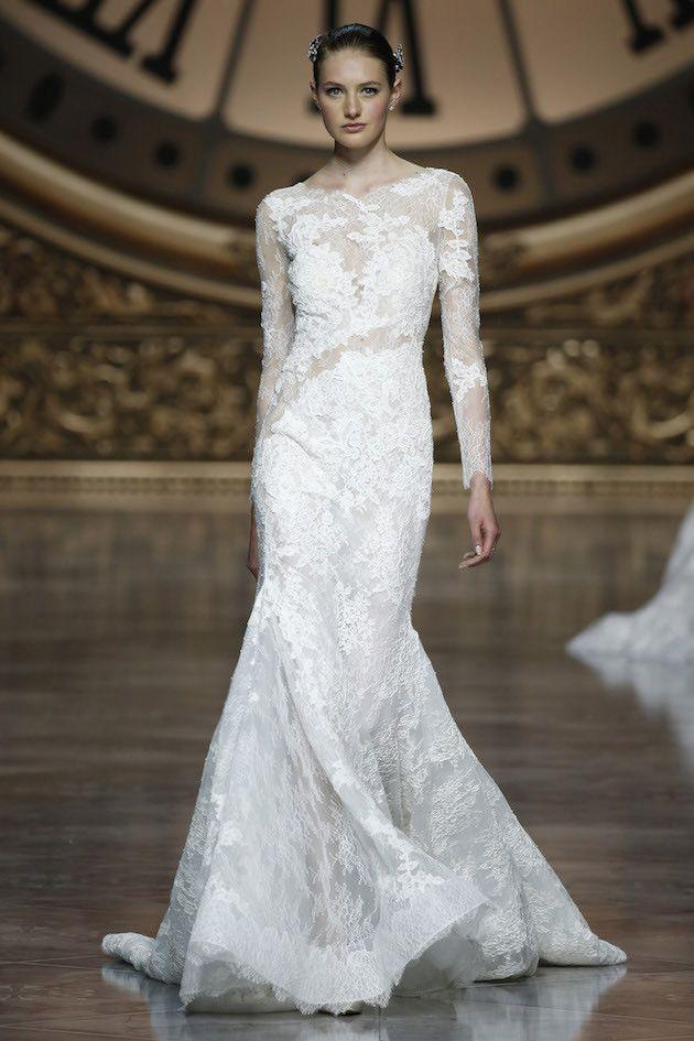 Elegant Pronovias wedding dress at Barcelona Bridal Fashion Week