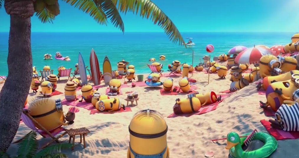 Minions Beach Scene Poster Google Search