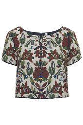 Tapestry Embellished Crop Tee from Topshop R1100,00