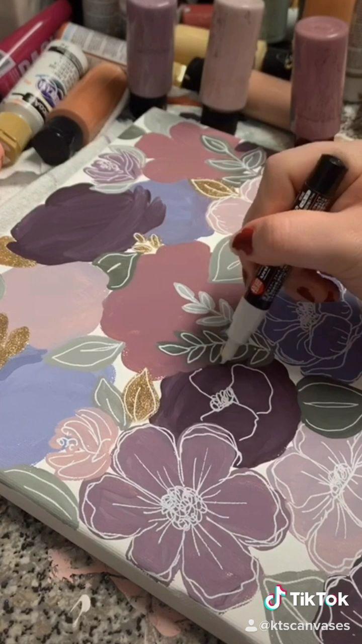 Art Tutorials painting floral art Art Doodle art floral