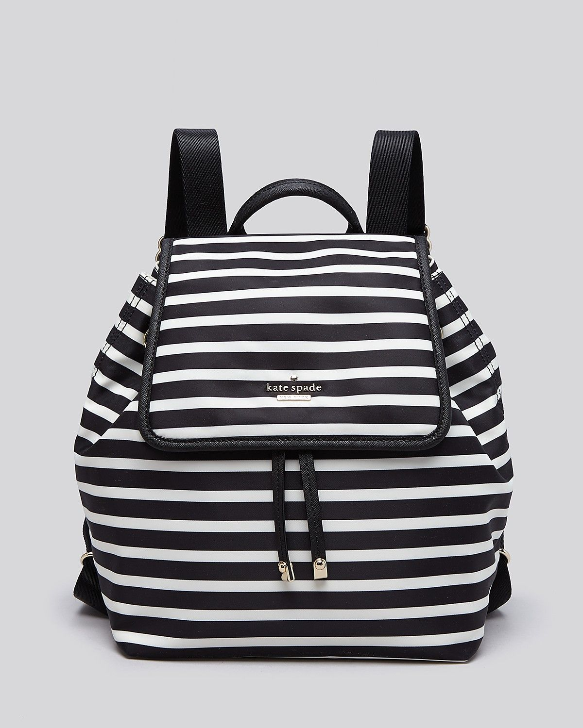 School bag new york - Kate Spade New York Backpack Classic Nylon Striped Molly Bloomingdale S