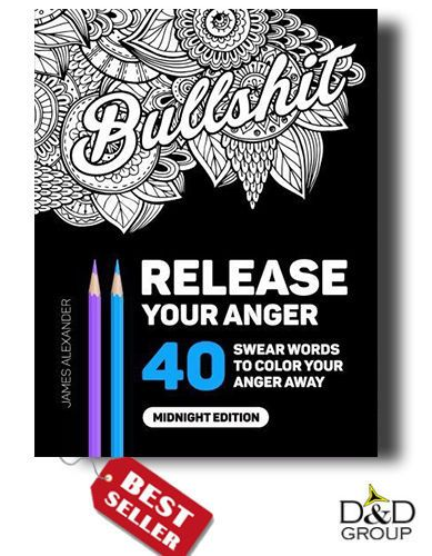Release Your Anger Swear Word Adult Coloring Book Stress Relief Designs Therapy