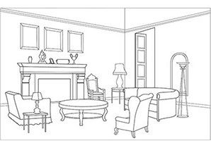 living room coloring page  house colouring pages coloring pages adult coloring pages