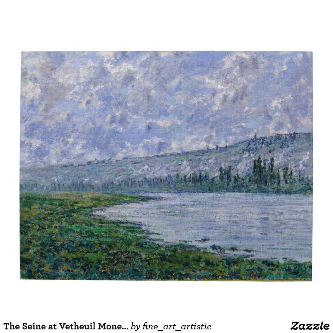 The Seine at Vetheuil Fine Art Jigsaw Puzzle
