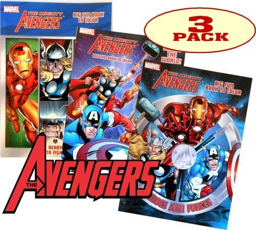 Marvel\'s AVENGERS© Coloring Book Set (3 Coloring Books) by Marvel ...