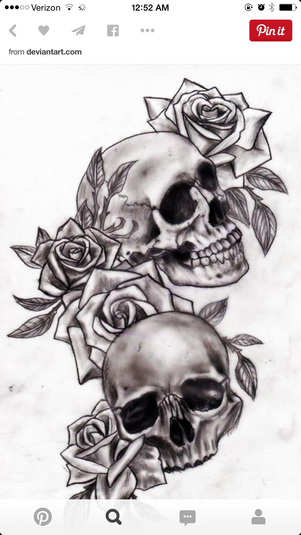 Pin von Brandie Rumford auf art | Pinterest | Schädel, Tattoo ideen ...
