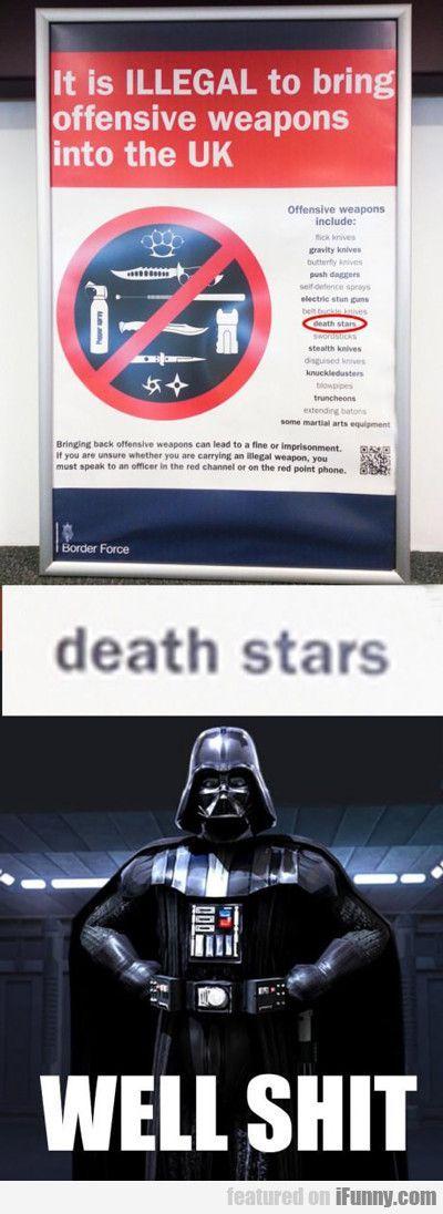 It Is Illegal To Bring Starwarsthelastjedi Funny Star Wars Memes Star Wars Jokes Star Wars Humor