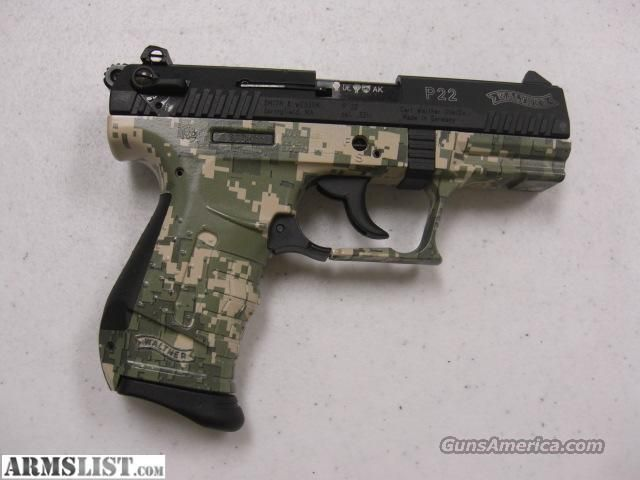 Walther p22 white camo dress