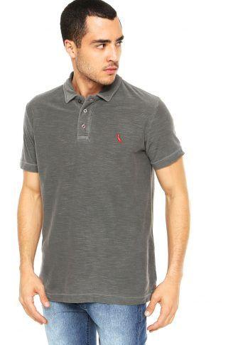 Camisa Polo Reserva Lisa Cinza  20e452f51096c