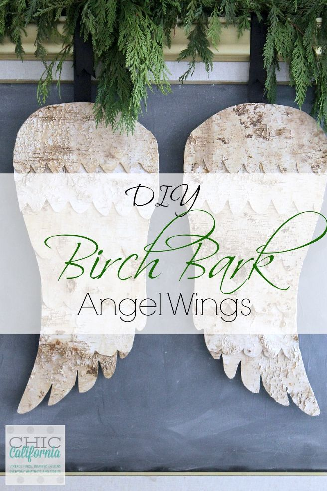 DIY Birch Bark Angel Wings Birch bark, Birch craft, Tree