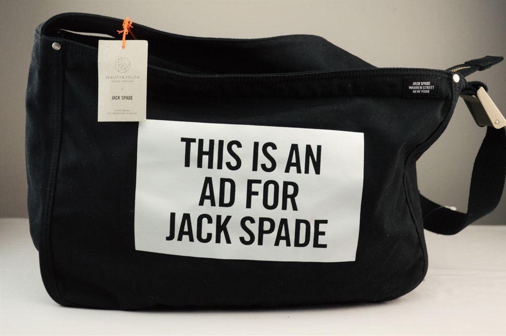 d78eb25e2 NWT Jack Spade Black Canvas This Is An Ad For Jack Spade Messenger Bag # JACKSPADE #MessengerShoulderBag