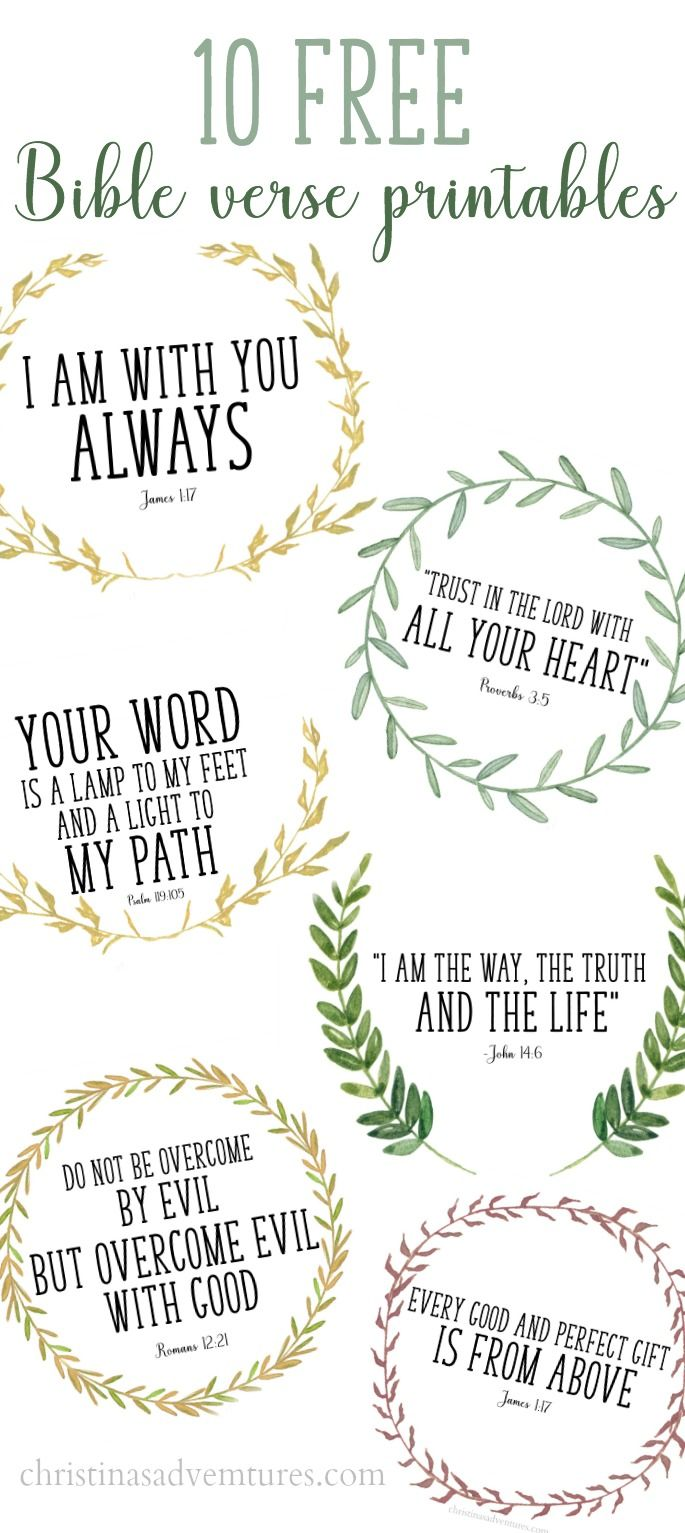These printable Bible verses are free, and are perfect to