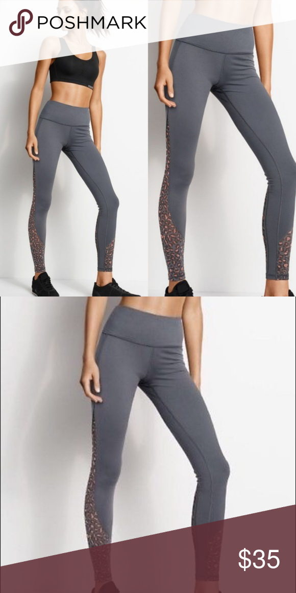 bbe5b82d1f4c3 NEW victoria's secret knockout gray leopard tights Victoria's Secret Sport  leopard-printed mesh Knockout tight. BRAND NEW ! Label marked Small pocket  in ...