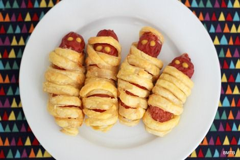 Halloween Sausage Mummies BMTB   Recipes Pinterest Sausage - halloween baked goods ideas