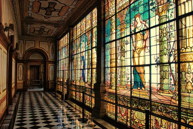 Interior of Chapultepec Castle in Mexico City: one of only two Royal Castles in the Americas, as well as the only one in North America that was used to house sovereigns: the Mexican Emperor Maximilian I, and his consort Empress Carlota, during the Second Mexican Empire.