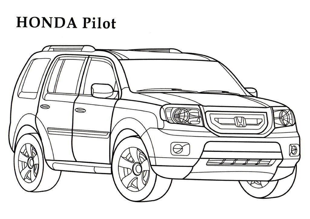 Honda Coloring Pages Download And Print For Free Truck Coloring