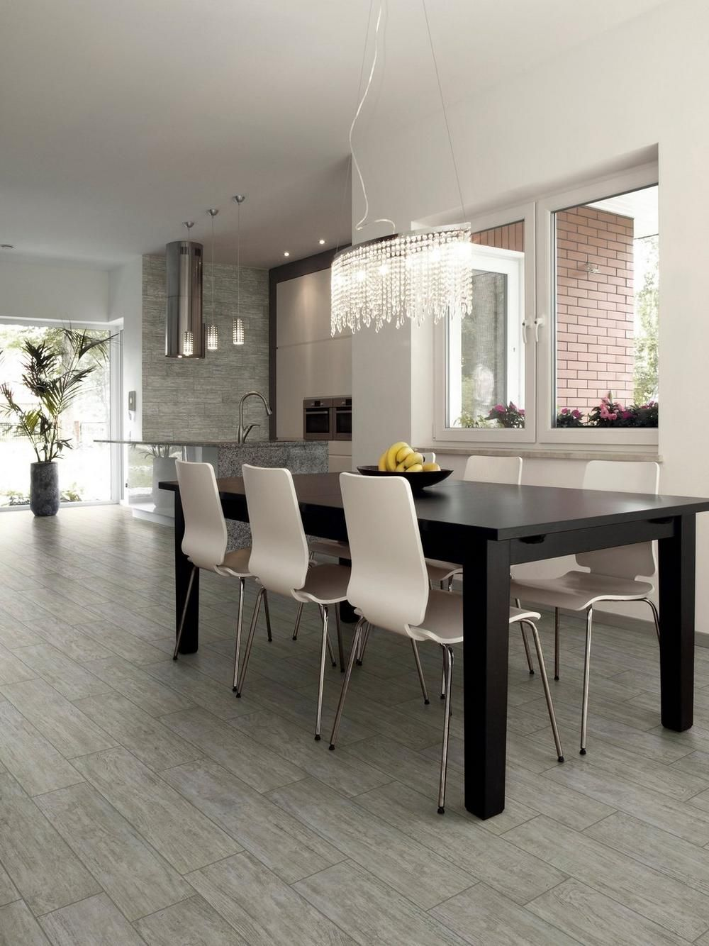 canopy gray wood plank porcelain tile - 6in. x 24in. - 100130194