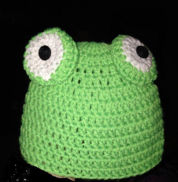 Frog hat by CrochetGalaxy on Etsy, $15.00