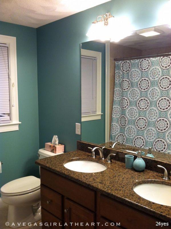 Gallery One Interior Design Green Bathroom Color Ideas With Curtain Home Interior Colour Design Combinations Ideas
