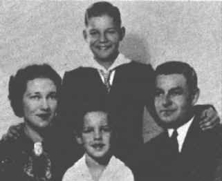 Richard Chamberlain with his mother, father and brother.