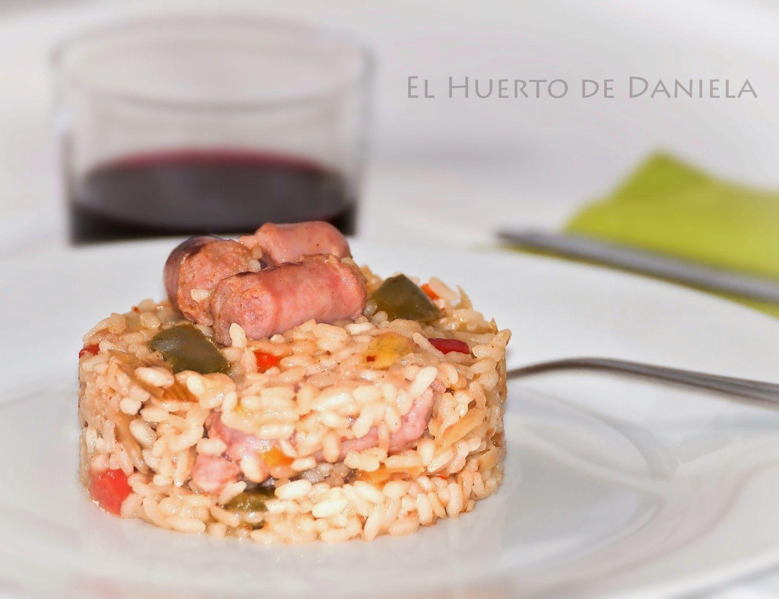 El Huerto de Daniela: Arroz con salchichas frescas