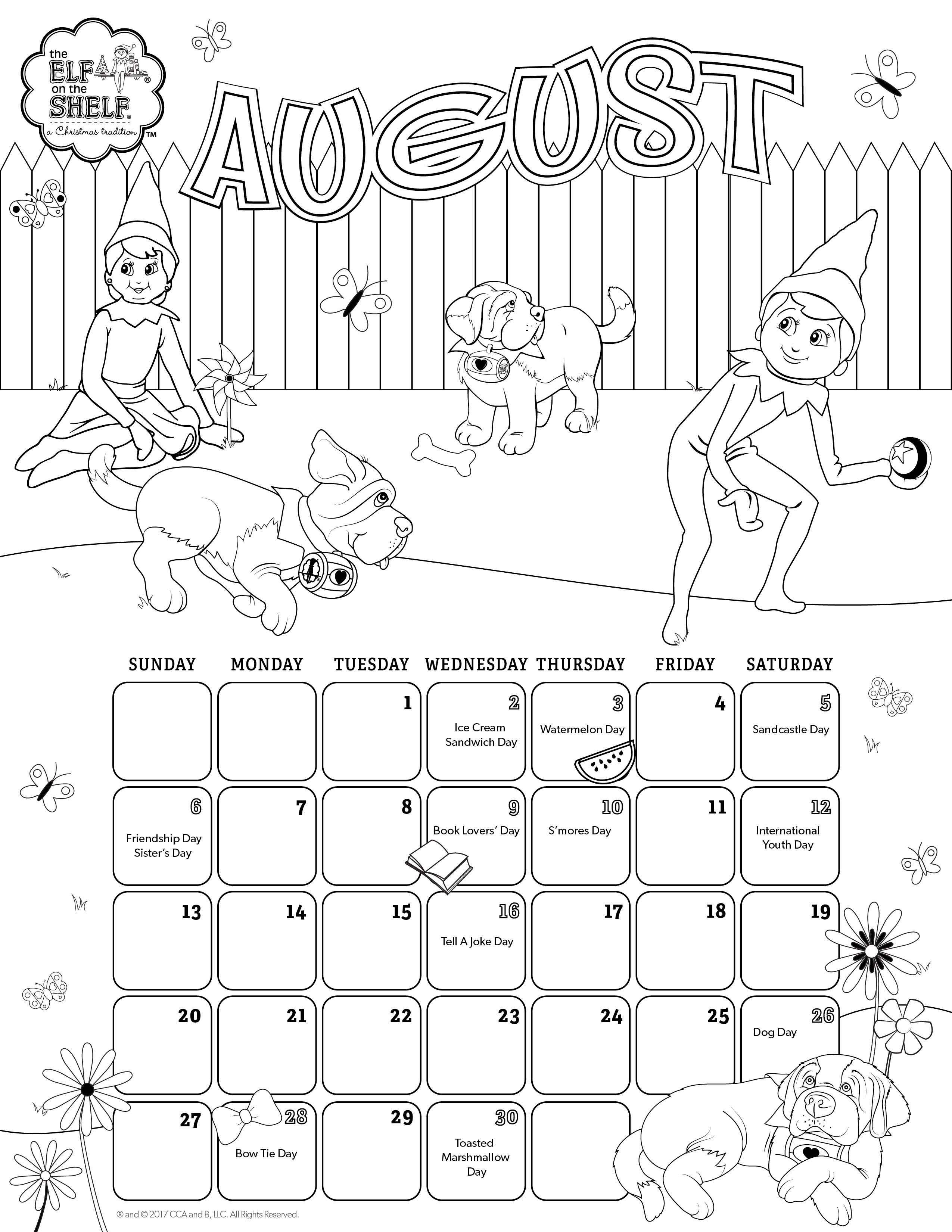 The Elf On The Shelf A Christmas Tradition Kids Calendar Coloring Pages Elf