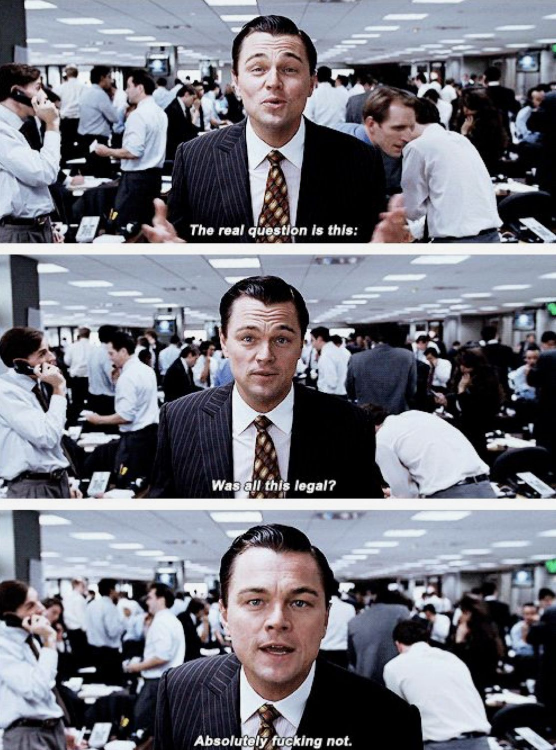 Leonardo Dicaprio In The Wolf Of Wall Street In 2019