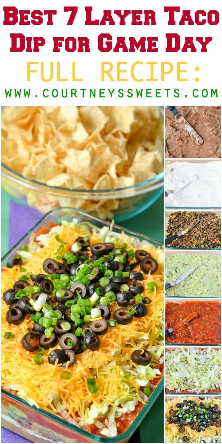 Best 7 Layer Taco Dip And More For Game Day Layered Taco