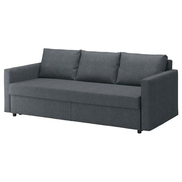 Friheten Canape 3 Places Convertible Hyllie Gris Fonce En 2020 Canape 2 Places Tissu Ikea Canape 3 Places