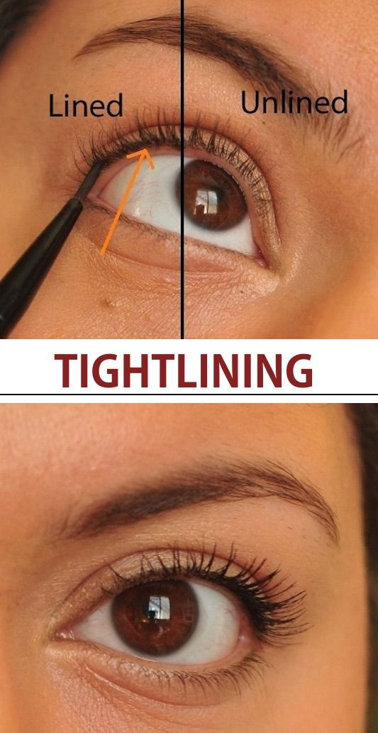 ts called tightlining, ladies. How to apply eyeliner for a natural look. -- Mak... - Fränn -